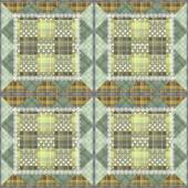 Patchwork seamless retro checkered pattern background — Stock fotografie