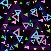 Abstract triangles seamless pattern background texture on black — Stok fotoğraf