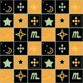 Patchwork seamless retro geometric pattern background — Stock Photo