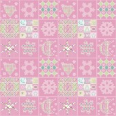 Patchwork seamless christmas pattern geometric elements backgrou — Stock Photo
