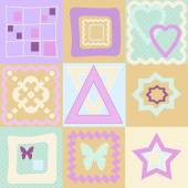 Seamless pattern patchwork kids background — 图库照片