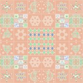 Patchwork seamless christmas pattern with elements background — Stock Photo