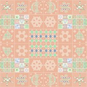 Patchwork seamless christmas pattern with elements background — Stockfoto