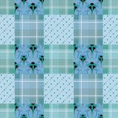 Patchwork seamless retro colors checkered pattern background — Stockfoto