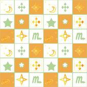 Patchwork seamless retro geometric ornamental pattern background — Stockfoto