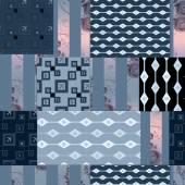 Patchwork navy retro texture pattern background — Стоковое фото