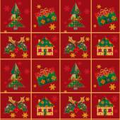 Christmas seamless pattern patchwork texture background — Stockfoto