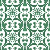 Seamless green floral pattern white texture background — Stock Photo