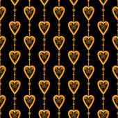 Valentine seamless pattern hearts texture black background — Stock fotografie