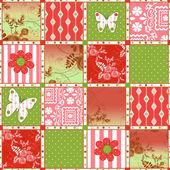 Patchwork retro floral texture pattern background — Stock fotografie