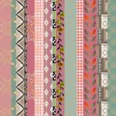 Patchwork retro geometrical floral pattern background — Stock fotografie