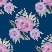 Flowers retro abstract seamless pattern texture background — ストック写真