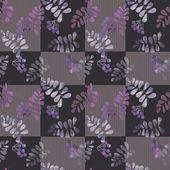 Patchwork retro autumn floral pattern texture background — ストック写真