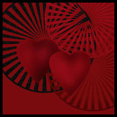 Dark card with hearts art image picture background — Zdjęcie stockowe