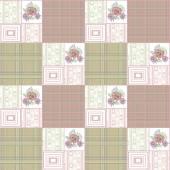 Patchwork retro striped floral texture pattern retro pastel back — Foto de Stock