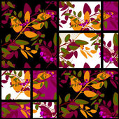 Patchwork retro autumn floral pattern texture background — Stockfoto