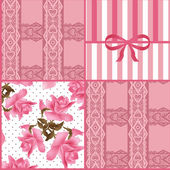 Patchwork seamless lace floral pattern background — Stock Photo