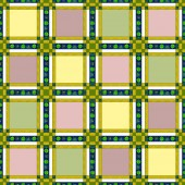 Seamless retro textile checkered texture pattern background — Stockfoto
