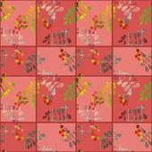 Patchwork retro autumn floral pattern texture background — Stock Photo