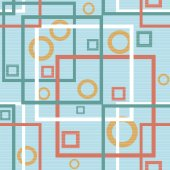 Abstract modern squares circles seamless pattern texture backgro — Stockfoto