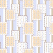 Patchwork retro checkered lace fabric texture pattern background — Stock Photo #59360387