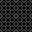 White lace floral seamless pattern on black background — Stock Photo #59360439