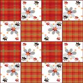 Patchwork retro striped floral texture pattern retro background — Stock Photo
