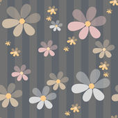Flowers retro abstract seamless pattern texture striped backgrou — Photo