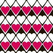 Geometrical valentines day seamless pattern with hearts — Stock Vector