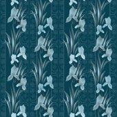 Floral pattern with irises background — Stock Photo