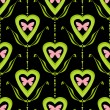 Valentine bright seamless pattern hearts butterfly texture black — Stock Photo #60513401