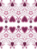 Retro hearts valentines day ornament seamless pattern on white b — Стоковое фото