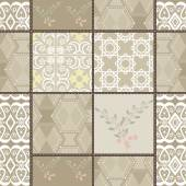 Patchwork seamless retro colors lace pattern texture background — Stock Photo