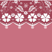 White seamless lace pattern on retro background — Stock Photo