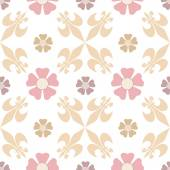 Oriental seamless pattern damask arabesque floral brown elements — Stock Photo