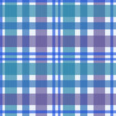 Seamless retro textile blue checkered texture plaid pattern back — ストック写真