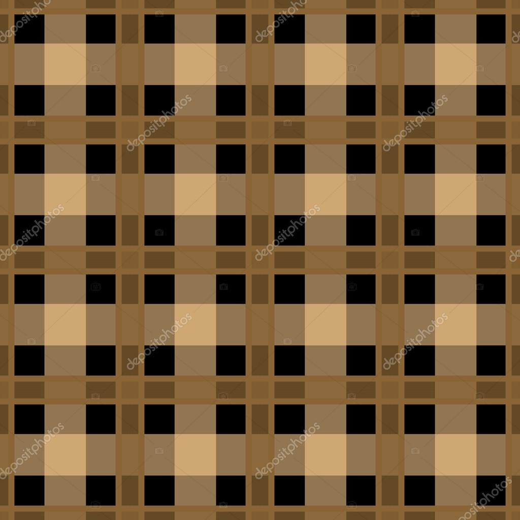 无缝复古纺织格子棕色格仔的纹理格纹图案背景