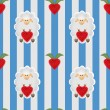 Sheep seamless cartoon pattern with sheep and heart strawberry b — Stock Photo #61229551