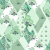 Patchwork floral seamless pattern texture background — ストック写真