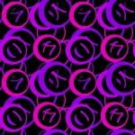 Retro abstract circle seamless pattern vintage dots backgroun — Stock Photo #61422687