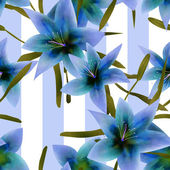 Seamless pattern with blue lilies texture background — Photo