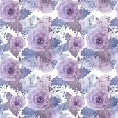 Abstract elegance seamless pattern with roses flowers background — 图库照片