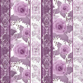 Patchwork design floral fabric texture pattern retro background — Stock Photo