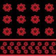 Seamless floral pattern with red flowers background — Stock Photo #63265979