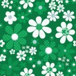 Seamless floral pattern with cute cartoon flowers background — Stock Photo #63354933