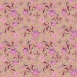 Seamless floral pattern with cute flowers background — Stock Photo #63555873