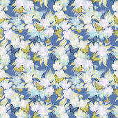 Seamless floral retro pattern background flowers ornament wallpa — Stock Photo