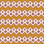 Seamless aztec pattern zigzag geometrical background — Stock Vector