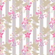 Seamless floral pattern with cute cartoon flowers background — Stock Photo #64490985