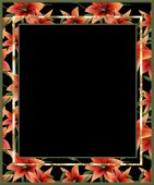 Floral frame with lilly flowers — Foto de Stock